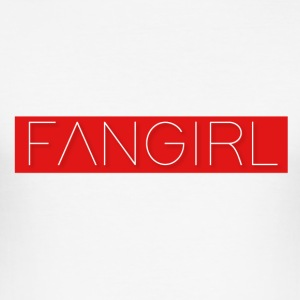 FANGIRL Red Logo - Men's Slim Fit T-Shirt
