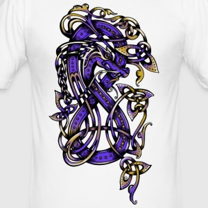 purple dragon - Tee shirt près du corps Homme