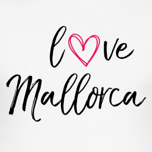 love Mallorca in schwarz - Männer Slim Fit T-Shirt
