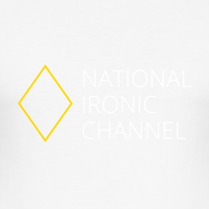 Ironic National Channel - Long Sleeve T-Shirt - Men's Slim Fit T-Shirt