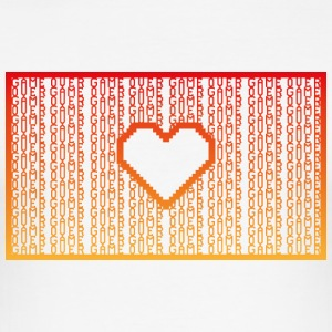 GAME OVER TYPOGRAFIE - Männer Slim Fit T-Shirt
