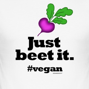 Just Beet It #vegan - Männer Slim Fit T-Shirt