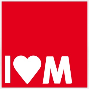 I heart M - Men's Slim Fit T-Shirt