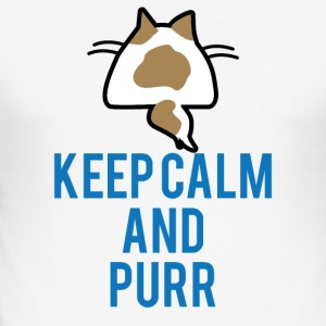 Cats: Keep calm and purr - Men's Slim Fit T-Shirt