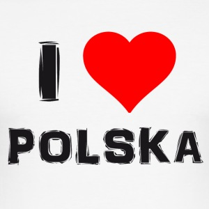 Polska Love - Männer Slim Fit T-Shirt
