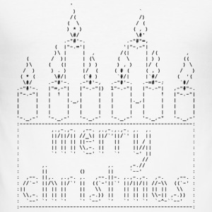 Isle of Candles ASCII - Tee shirt près du corps Homme