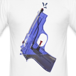 Blue water pistol - Men's Slim Fit T-Shirt
