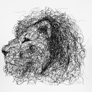 Lion Scribble - Männer Slim Fit T-Shirt