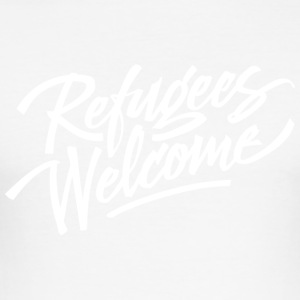 refugees welcome - Men's Slim Fit T-Shirt