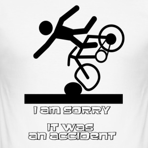 i am sorry it was an accident - Men's Slim Fit T-Shirt