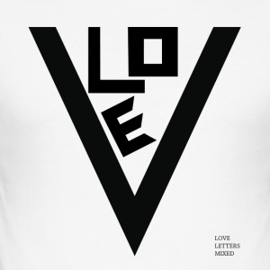 Love Letters Mixed - Männer Slim Fit T-Shirt