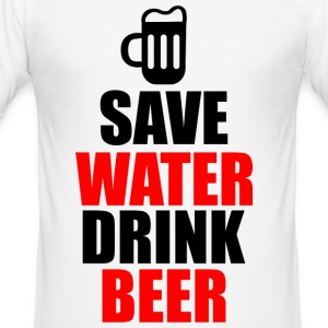 Save water drink beer - Männer Slim Fit T-Shirt