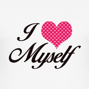 I LOVE MYSELF - Männer Slim Fit T-Shirt