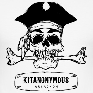 KITANONYMOUS ARCACHON logo - Men's Slim Fit T-Shirt