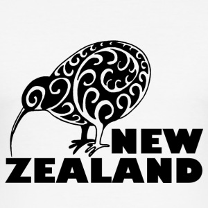New Zealand Kiwi me lettering Zealand, black - Men's Slim Fit T-Shirt