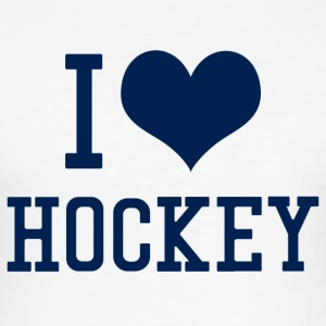 I Love Hockey - Männer Slim Fit T-Shirt