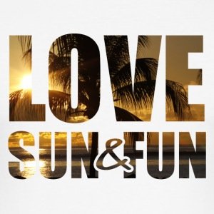 Love, Sun & Fun - Slim Fit T-shirt herr
