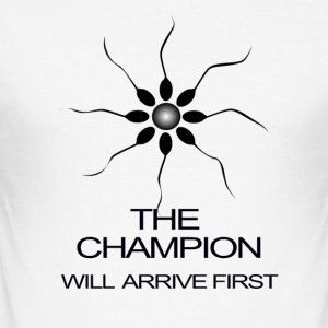 THE CHAMPION WILL ARRIVE FIRST - Men's Slim Fit T-Shirt