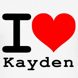 I love Kayden - Männer Slim Fit T-Shirt