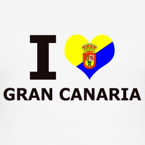 I LOVE GRAN CANARIA FLAG - Herre Slim Fit T-Shirt