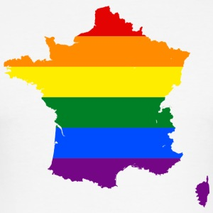 France Rainbow Flag - Tee shirt près du corps Homme
