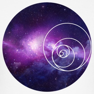 Galaxy Circle - Slim Fit T-skjorte for menn