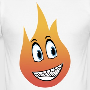 flamme smil - Herre Slim Fit T-Shirt