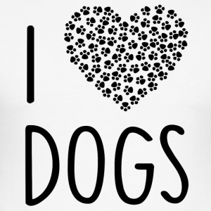 ++ I LOVE DOGS ++ - Men's Slim Fit T-Shirt