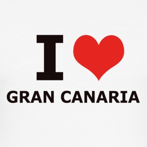 I LOVE GRAN CANARIA - Slim Fit T-skjorte for menn