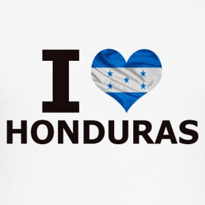 I LOVE HONDURAS FLAG - Herre Slim Fit T-Shirt