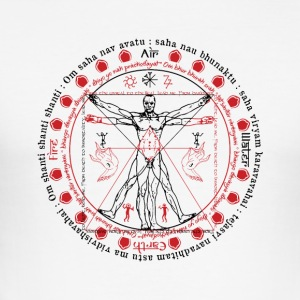 Vitruvian Alchemist Wise Man - Männer Slim Fit T-Shirt
