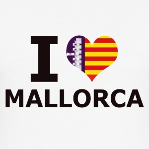 I LOVE MALLORCA FLAG - Slim Fit T-skjorte for menn