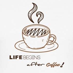 life begins after coffee - Tee shirt près du corps Homme