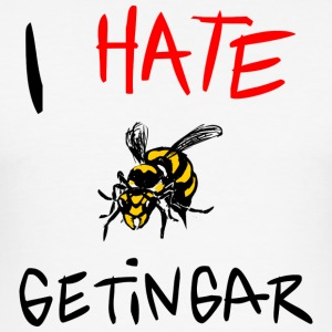 I hate getingar - Slim Fit T-shirt herr