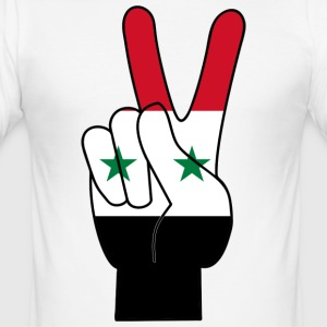 SYRIA / SYRIA PEACE SIGN T-SHIRT - Men's Slim Fit T-Shirt