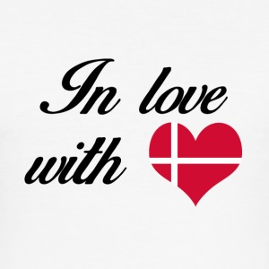 In love with Denmark - Männer Slim Fit T-Shirt