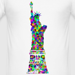 Statue of Liberty Mosaic - Slim Fit T-skjorte for menn