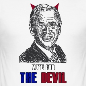 Vote the devil - Maglietta aderente da uomo