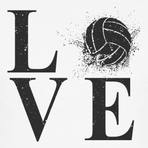 I LOVE VOLLEYBALL! - Herre Slim Fit T-Shirt