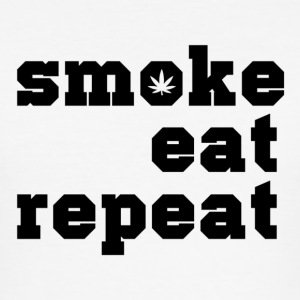 smoke eat repeat - Men's Slim Fit T-Shirt
