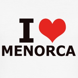 I LOVE MENORCA - Männer Slim Fit T-Shirt