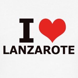 I LOVE LANZAROTE - Männer Slim Fit T-Shirt