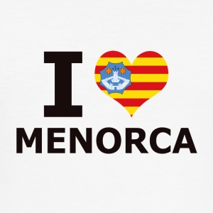 I LOVE MENORCA FLAG - Männer Slim Fit T-Shirt