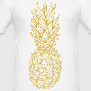 or ananas - Tee shirt près du corps Homme