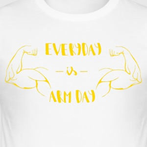 #ArmDay - Herre Slim Fit T-Shirt
