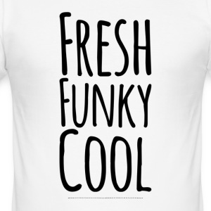 Fresh Funky Cool - Men's Slim Fit T-Shirt