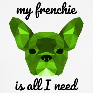 Low Poly Frenchie groen - slim fit T-shirt