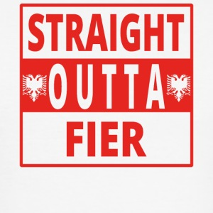 Straight outta Fier Albania - Men's Slim Fit T-Shirt