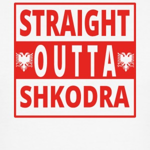 straight outta Shkodra Albanien - Männer Slim Fit T-Shirt
