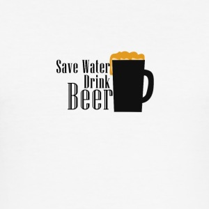 Bier - Save Water, Drink Beer - Männer Slim Fit T-Shirt
